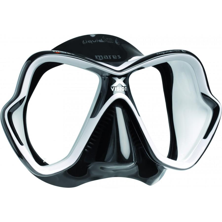 Máscara de Mergulho Mares X-Vision Ultra Liquidskin - Preto e Branco