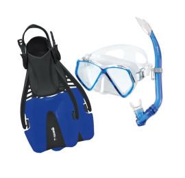 Kit de Mergulho Mares Coral Pirate Infantil - Azul Snorkeling