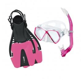 Kit de Mergulho Mares Coral Pirate Infantil - Rosa Snorkeling