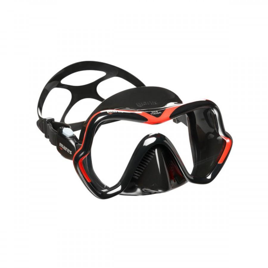 Máscara de Mergulho Mares One Vision - Preto e Vermelho Mergulho Scuba