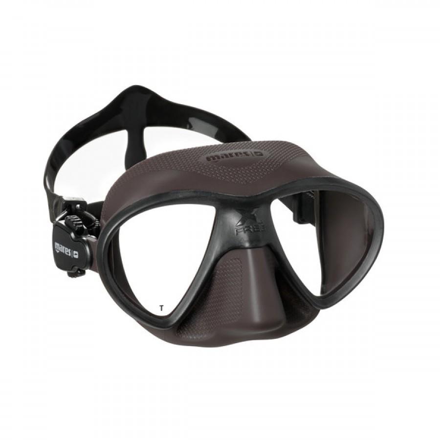 Máscara de Mergulho Mares X-Free - Marrom Mergulho Livre