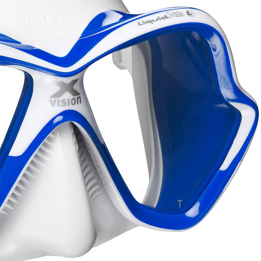 Máscara de Mergulho Mares X-Vision Ultra Liquidskin - Azul Mergulho Scuba