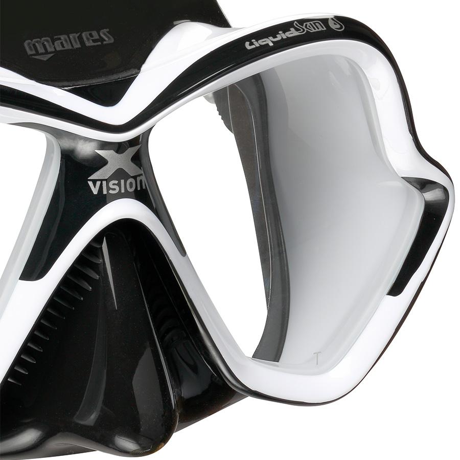 Máscara de Mergulho Mares X-Vision Ultra Liquidskin - Preto e Branco Mergulho Scuba