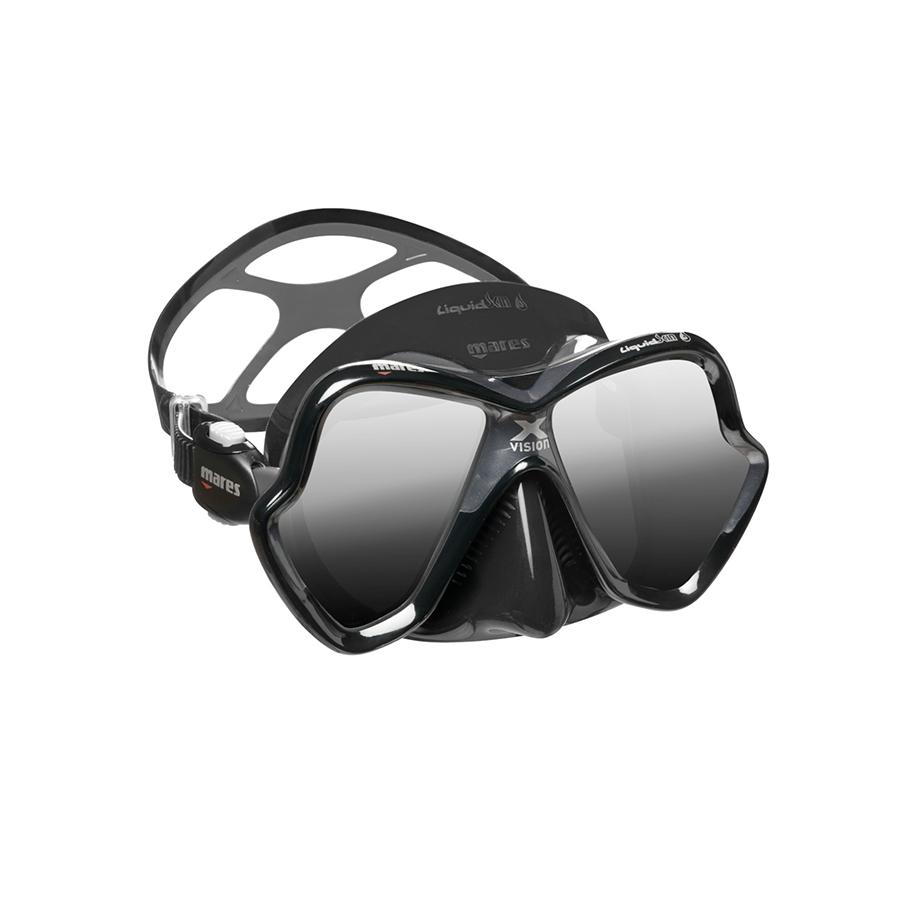 Máscara de Mergulho Mares X-Vision Ultra Liquidskin - Cinza Espelhado Mergulho Scuba