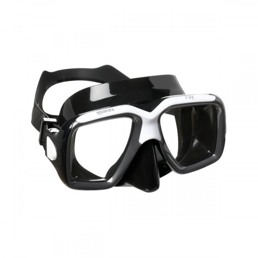 Máscara de Mergulho Mares Ray - Preta Snorkeling