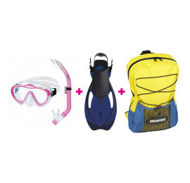 Kit de Mergulho Mares Infantil - Rosa Snorkeling