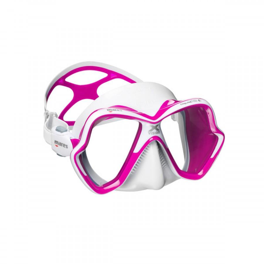 Máscara de Mergulho Mares X-Vision Ultra Liquidskin - Rosa Mergulho Scuba